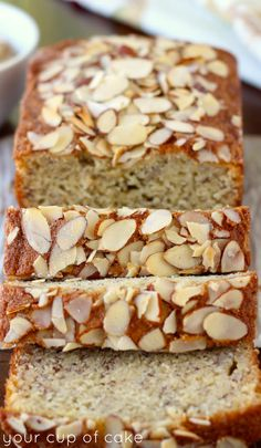 Almond Banana Bread - Your Cup of Cake