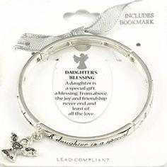 c3288d5a6be Daughter Blessing Stretch Bangle Bracelet Charm Angel Z 13 Lovely Hot for  sale online   eBay