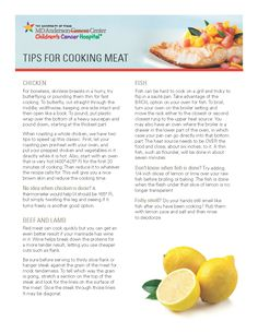 Maintaining a healthy diet is one of the most important things you can do to reduce your chances of developing diseases like cancer, and cooking your own meals can help. But if you haven't yet mastered the art of cooking chicken, beef, lamb or fish perfectly, use this guide to help you cook meat evenly and properly every time.#endcancer