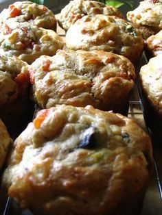 Roasted Red Pepper and Goat Cheese Muffins | Lisa's Kitchen | Vegetarian Recipes | Cooking Hints | Food & Nutrition Articles