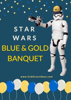 Are your Cub Scouts big Star Wars fans?  Throw them an awesome Star Wars Blue and Gold Banquet with these ideas!