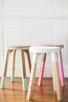 Dipped Stools - 20 Of The Internet's Best IKEA Hacks - Photos
