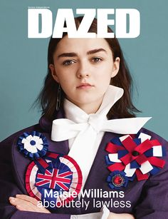 SPRING/SUMMER, 2015: Game of Thrones star Maisie Williams fronts the State of the Nation issue of Dazed. Shot by Ben Toms and styled by Robbie Spencer. Maisie wears Vivienne Westwood and J.W. Anderson. Read about the new issue here: http://www.dazeddigital.com/artsandculture/article/24207/1/spring-summer-2015-maisie-williams