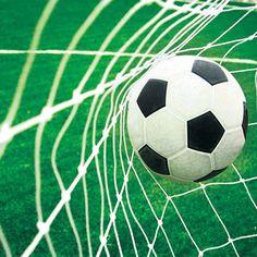 Voetbal goal foto behang