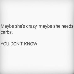 Definitely carbs.. I be hangry!!! :p