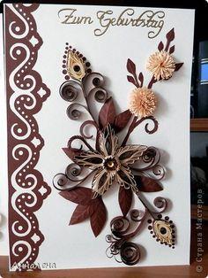 Открытка Квиллинг Открытки Бумага Бумажные полосы фото 1