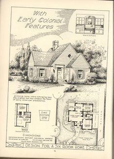 vintage plans for 6 room cottage - Vintage Storybook House Plans