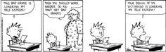 Calvin gets a bad grade