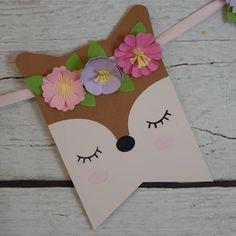 Woodland Animal Banner Woodland Baby Shower Woodland Animal