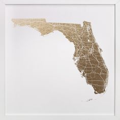 Florida Map Filled by GeekInk Design for Minted