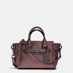 771df0eb0cbb Coach Swagger 20 in Metallic Pebble Leather Coach Handbags