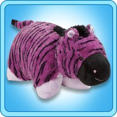 My Pillow Pets Purple Zany Zebra Plush, Anything but just another toy, this original Pillow Pets product combines the functionality of a pillow with the security of a stuffed animal. Zebra Print Clothes, White Pillow Cases, Purple Zebra, Toddler Pillow, Comfortable Pillows, Pillow Pets, Animal Pillows, Kid Beds, Cuddling