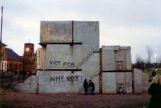 Rachel Whiteread's House, 1993: concrete cast inside the original house structure. POSITIVE/NEGATIVE SPACE CONTOUR/CONCAVE