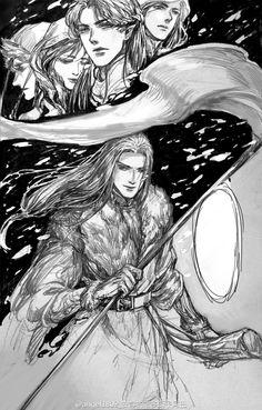 Fingolfin and his children-Helcaraxe
