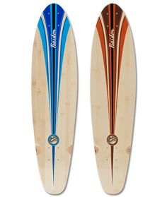 Longboard Cruiser, Raiders, Blue Brown, Surfboard, Campaign, Deck, Medium, Store, Products