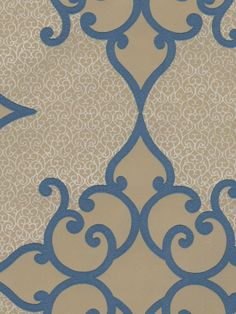 Interior Place - Blue Textured Diamond Scroll Wallpaper, $48.60 (http://www.interiorplace.com/blue-textured-diamond-scroll-wallpaper/)