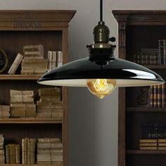 Antique Wrought Iron Lighting Fixtures Black Metal Industrial LED Pendant Lights Mini Kitchen Living Room Modern Ceiling Lamp