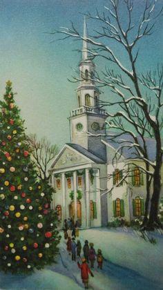 *Look* Vintage Christmas Card, Religious, Unused, Rare, Litho, Luke 2:10