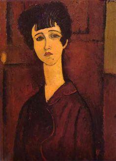 """Portrait of a Girl"" by Amadeo Modigliani"