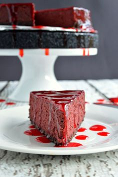Bloody Good Cheesecake: this spooky cheesecake would be the perfect addition at your Halloween party // A Cedar Spoon