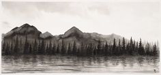 Dark mountains by Inkingart on DeviantArt