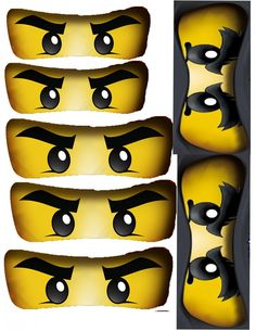 Ninjago Birthday Party + Free Ninjago Party Printables ~ Big Ninjago Eyes Printable  #ninjago #printables