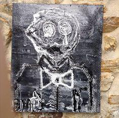 """Peinture contemporaine acrylique """"auto-portrait"""" par Borbès : Peintures par borbes"""