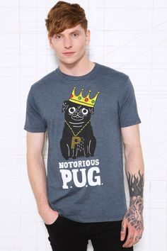 Indigo Notorious Pug Tee at Urban Outfitters