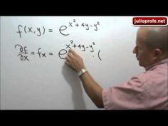 Derivadas parciales de una función exponencial: Julio Rios explica cómo obtener las derivadas parciales de una función exponencial de dos variables.