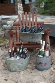 Galvanized metal beer tubs  Emily Steffen Photography