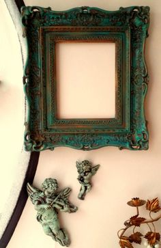 Beautiful Ornate Syroco Shabby Chic Upcycled by JewelsRosesNRust