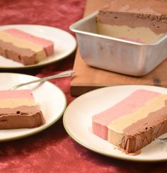 Vegan Layered Neapolitan Ice Cream Cake - very impressive! Love that it only contains a few simple ingredients. Great creation #FoodDoodles