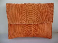 ENVELOPE CLUTCH IN ORANGE... on sale for 285! its a STEAL! X