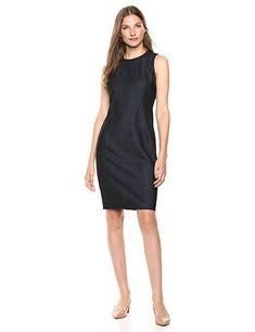 Metallic Dress, Princess Seam, Sheath Dress, Calvin Klein, Dresses For Work, Denim, Casual, Fashion, Moda