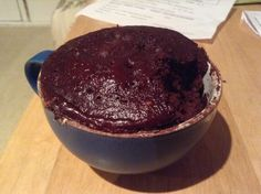 Gluten & dairy free cake in a mug :) 1 egg, 2tbsp dairy free milk of choice, 2tbsp honey, 2tbsp gf self raising flour, 2tbsp cocoa. Microwave for 1min 20secs.