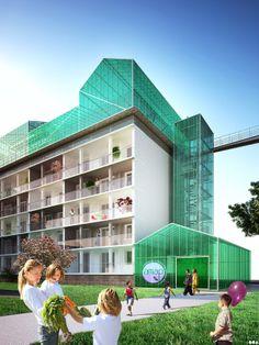 SOA Architectes Paris > Projets > Ferme sur les toits pinned by @dakwaarde - dakopbouw voor stadslandbouw