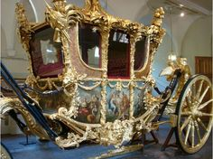 The Gold State Coach was last used during The Queen's Golden Jubilee in 2002 to carry Her Majesty and Prince Philip to the Service of Thanksgiving at St Paul's Cathedral.