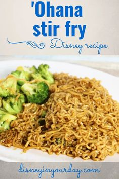 Stir-fry noodle recipe from Ohana - Disney in your Day. Want to recreate the delicious stir-fry from Ohana? This recipe you can make at home is full of flavor! #disneyfood #disneyrecipes #stirfry #ohana Fried Noodles Recipe, Stir Fry Noodles, Dog Recipes, Copycat Recipes, Drink Recipes, Disney Food, Disney Recipes, Disney Diy, Disney Cruise