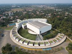 Image 4 of 22 from gallery of Binus School Bekasi / andramatin. Photograph by Mario Wibowo Photography Studio School Floor Plan, Building Drawing, Architecture Office, Modern Exterior, Architect Design, Mario, House Design, Mansions, Studio