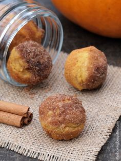 """Say """"YES"""" to these Gluten Free Mini Pumpkin Donut Muffins! The Baking Beauties #glutenfree #recipe"""