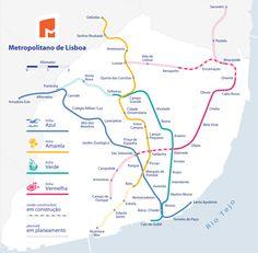 Lisbon The World's best subway maps