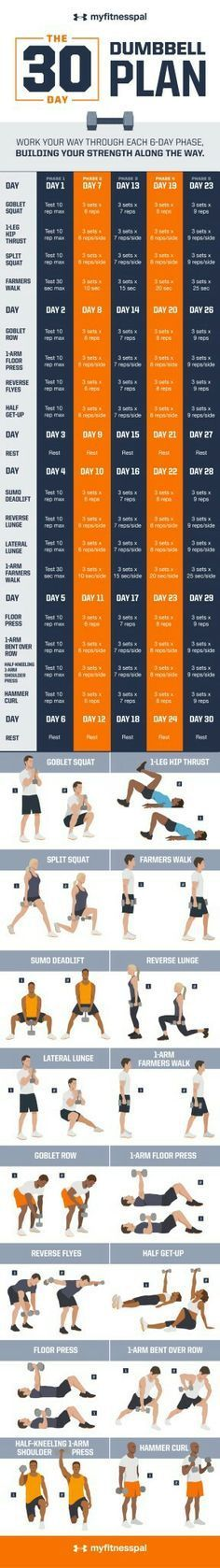 Fitness Pal 30 day dumbbell workout