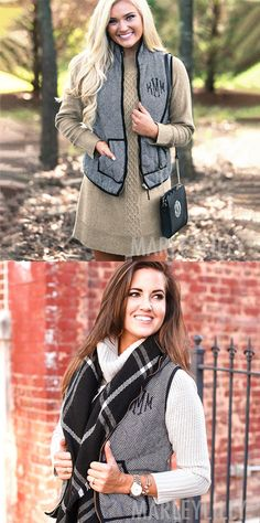 Complete your fall wardrobe with this stylish and comfortable Monogrammed Herringbone Vest! Perfect for layering over your favorite long sleeve shirt, this vest features a woven herringbone pattern and fashionable gold zipper! Similar to our puffy vest, this vest is comfy and cute.