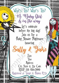 The Nightmare Before Christmas Baby Shower Invitation
