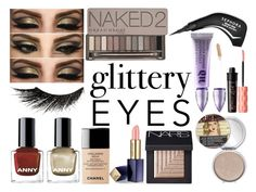 """""""My Gold Fantasy"""" by beautyqueenxcx ❤ liked on Polyvore featuring beauty, Sephora Collection, Urban Decay, TheBalm, Illamasqua, NARS Cosmetics, Benefit, Estée Lauder, Chanel and glitteryeyes"""
