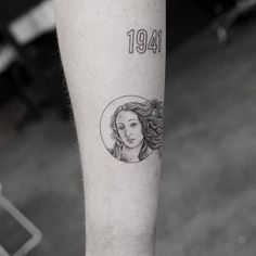 Boticelli's The Birth of Venus inspired Venus tattoo.