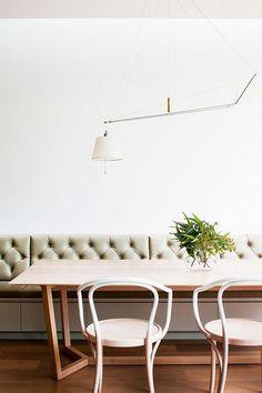 modern bentwood dining chairs. / sfgirlbybay