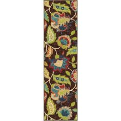 Carolina Weavers Indoor/Outdoor Santa Barbara Collection Tulles Brown Runner (2'3 x 8')