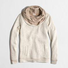 Factory funnelneck sweatshirt : sweatshirts & cardigans   J.Crew Factory