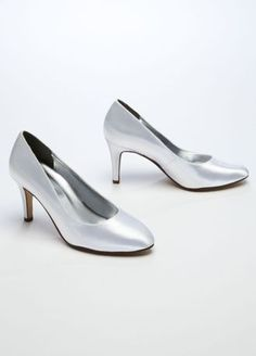 "This stylish and refined almond toe pump is perfect for any special occasion!  Mid heel pump features almond toe detail.  Heel measures 3"".  Fully lined. Imported.  Dyeable shoes are sold in White as shown. Bring your dyeable shoes to your local David's Bridal Store to have them dyed in any of our exclusive colors.  About Dyeable Shoes."
